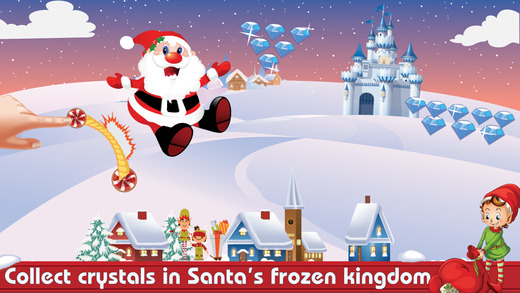 Santa's Frozen Journey: Collect Crystals Presents With Elves Penguins and Raindeers Bouncing Over Ev