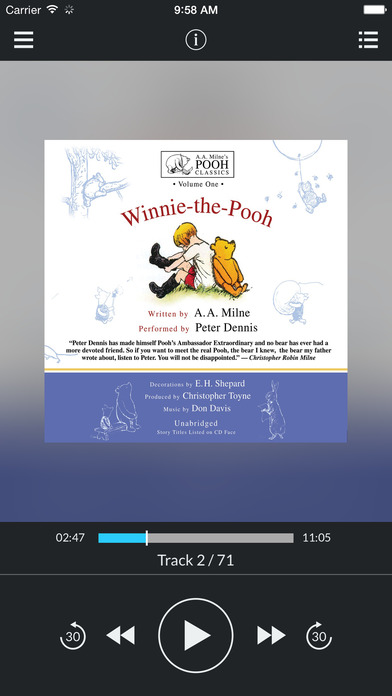 Winnie-the-Pooh by A. A. Milne and Christopher Toyne UNABRIDGED AUDIOBOOK