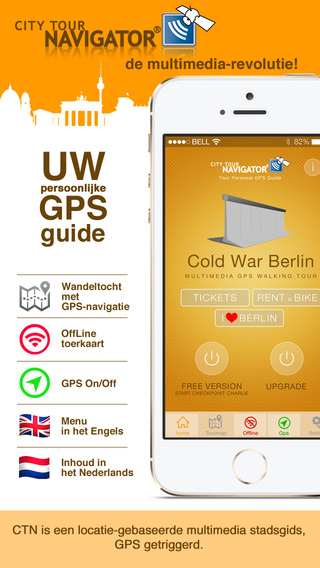 Berlijn koude oorlog Guide GPS wandelroute gids offline
