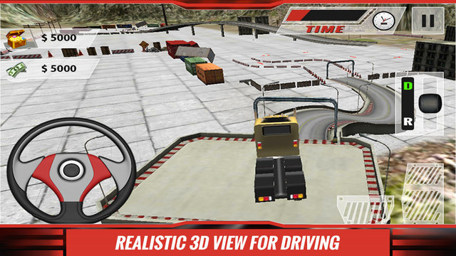 Real Truck Parking Simulator 3D – park the heavy duty lorry test your driving skills
