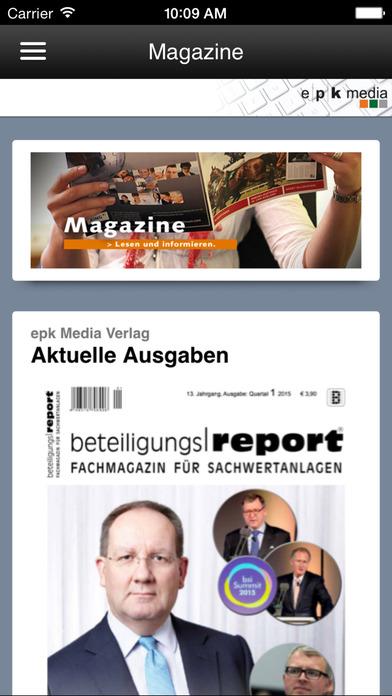 epk Kiosk | Magazine zum Thema Geschlossene Fonds und Nachhaltige Geldanlagen iPhone Screenshot 1