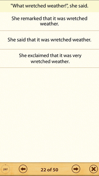 Grammar Express: Reported Speech Lite iPhone Screenshot 3