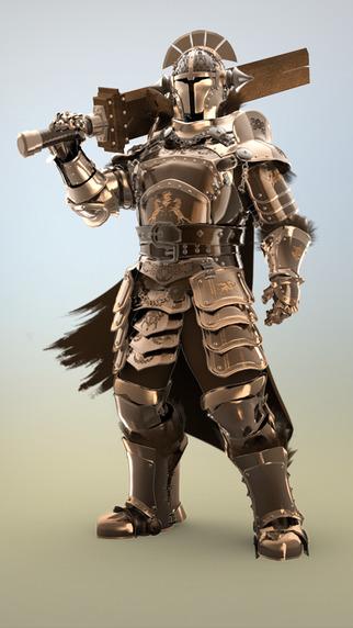 Figuromo Artist : Castle Gatekeeper Knight - Color Combine Design your 3D Fantasy Figure Sculpture