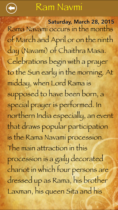 Festivals and Holy Days iPhone Screenshot 3