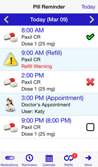 Pill Reminder - All in One Rx Refills Reminders Medication Tracker and Medicine Reminder