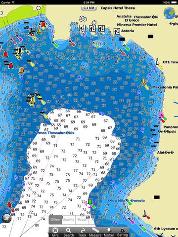 Marine: Aegean Sea North HD - GPS Map Navigator