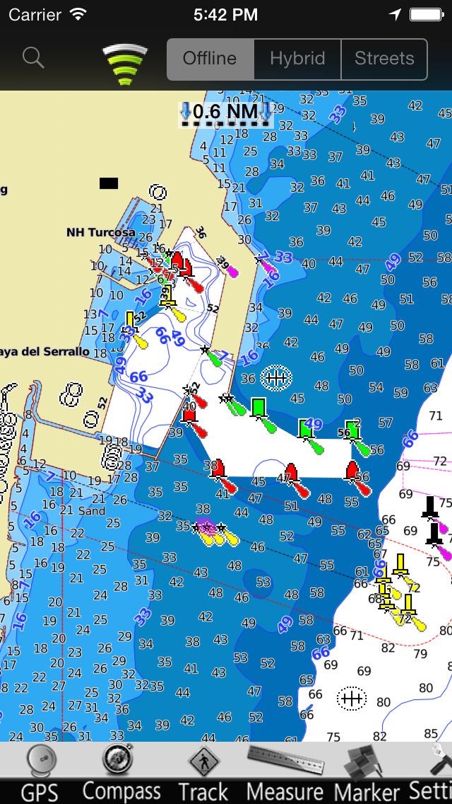 Valencia GPS Nautical charts