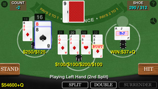 Screenshot 1 Blackjack 21 Professional Simulator (21 Pro Sim) (Vegas Casino Fun)