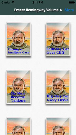 Ernest Hemingway Collection Volume 4