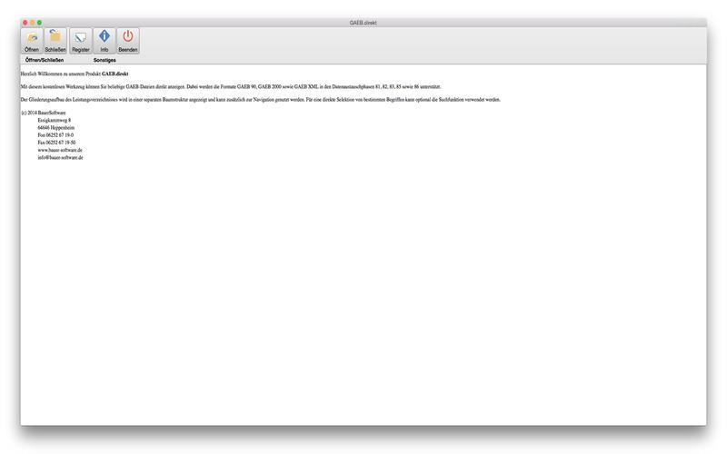 GAEB.direkt Screenshot - 1