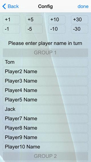 Amazing Score Pad iPhone Screenshot 2