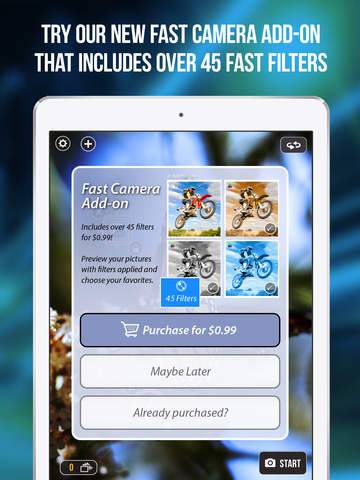Screenshot #5 for Fast Camera - The Rapid Speed Burst Mode, Timelapse Cam Photography, Snappy Photos & Video Sharing App