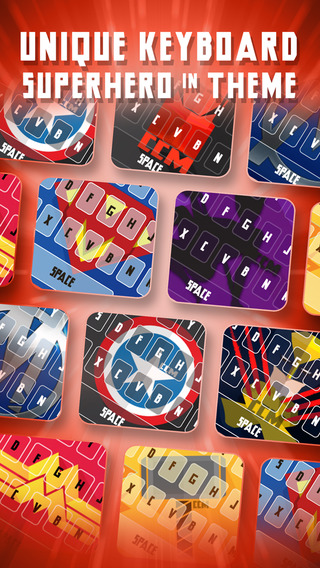 KeyCCM – Super Hero Comic : Custom Color Wallpaper Keyboard Themes Superhero in The Collection Style