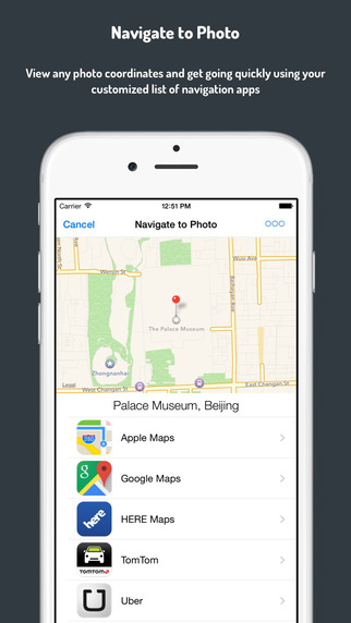 Navigate to Photo with Any Navigation app - Action Extension