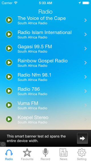 South Africa Radio News Music Recorder