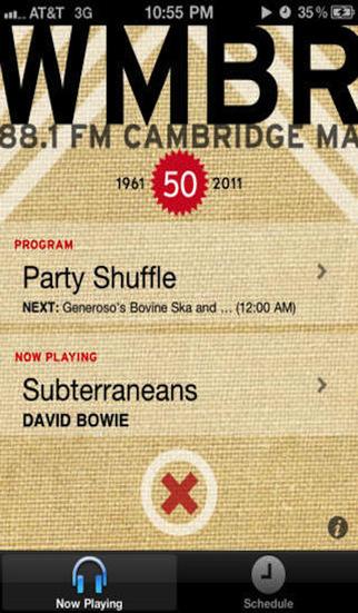 WMBR / Community Radio from MIT iPhone Screenshot 1