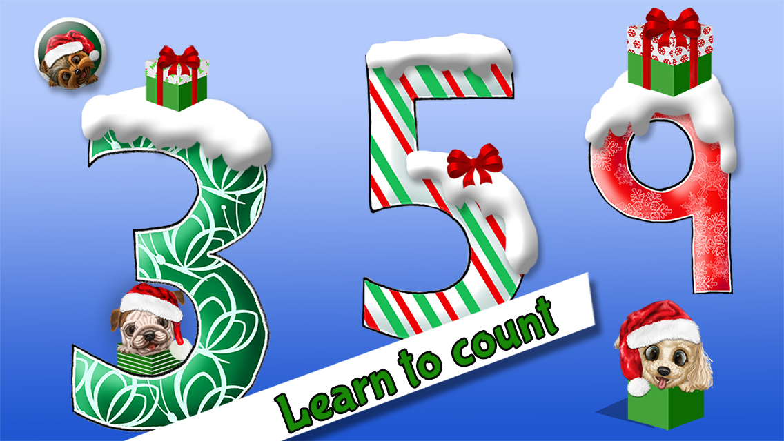 App shopper cool math puppy dogs 123 christmas edition for Cool christmas math games