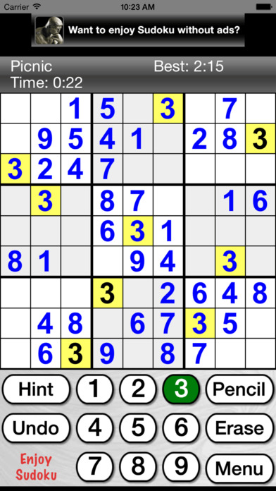 Sudoku Joy iPhone Screenshot 1