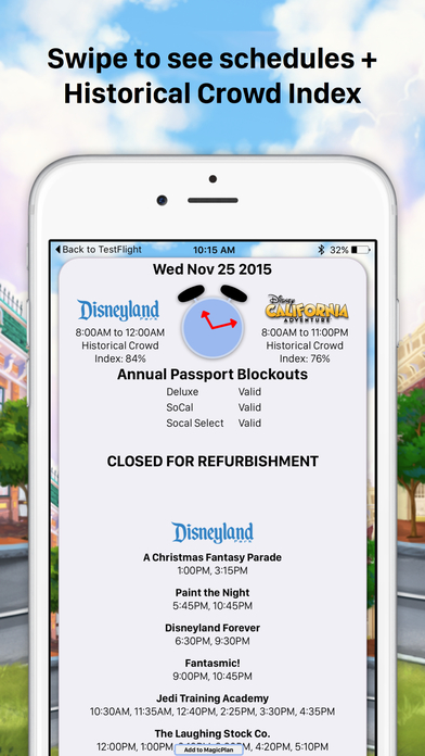 Disneyland MouseWait Social Wait Times FREE iPhone Screenshot 5
