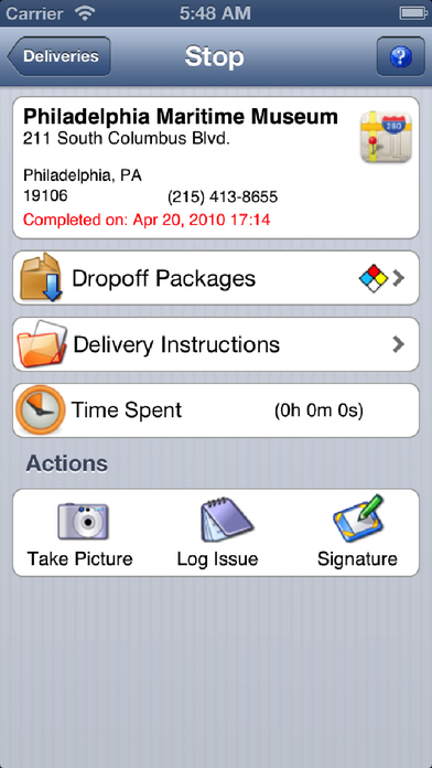 Activant Proof Of Delivery iPhone Screenshot 3