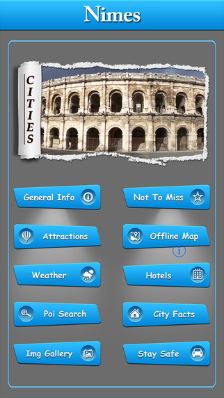 Nimes Offline Map Travel Guide