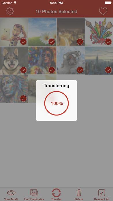 PicBack - Photo Transfer App Screenshot