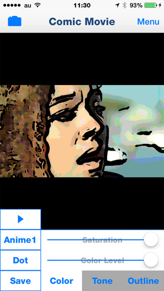 Comic Movie - Cartoon Effects Movie Maker Apps for making animation film from video camera -