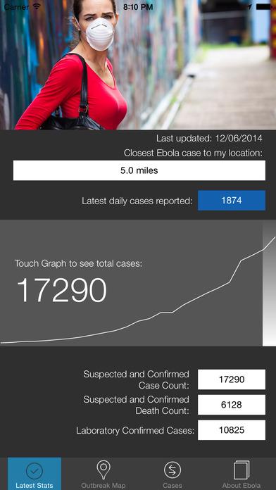Ebola Tracker screenshot 2