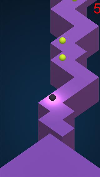 Make Ball Move on The Zigzag Walls