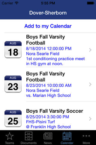 Dover-Sherborn High School 2014 screenshot 4