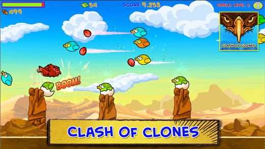 Clash of Clones - kill birds like a ninja