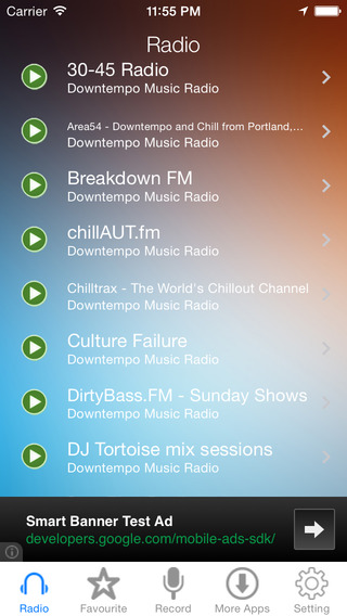 Downtempo Music Radio Recorder