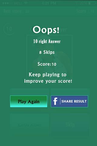 Guess the Tennis Player Quiz - Free Trivia Game screenshot 4