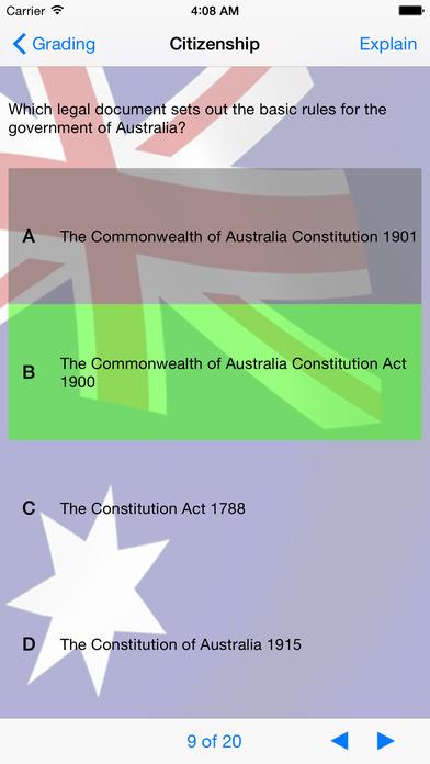 Australian Citizenship iPhone Screenshot 2