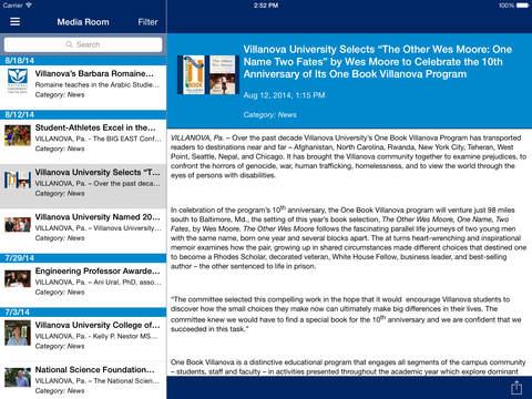 VU Mobile iPad Screenshot 2