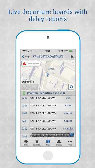 Bus New York City iPhone Screenshot 4