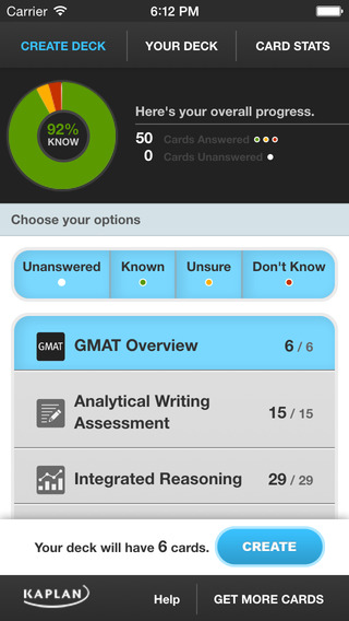 GMAT® Flashcards by Kaplan