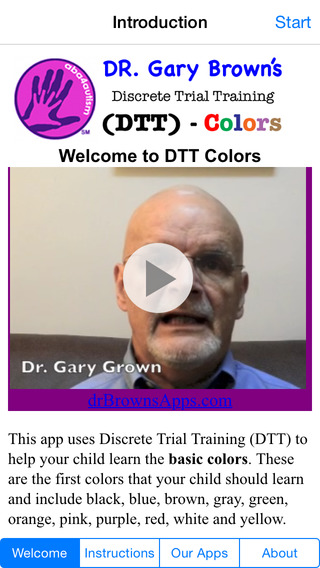 Autism DTT Colors by Dr. Brown
