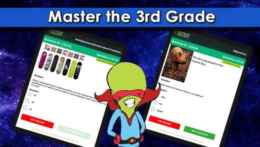 3rd Grade Education Galaxy: Math ELA and Reading - Common Core STAAR or Your State Standards
