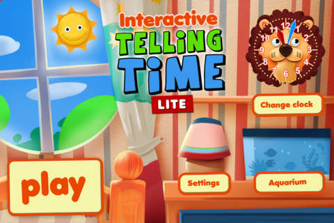 Screenshot 1 Interactive Telling Time Lite - Learning to tell time is fun