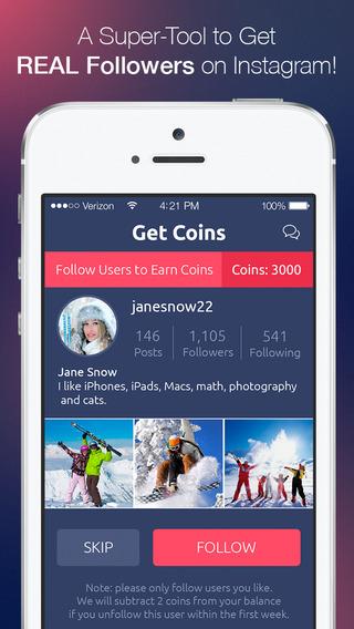Get Followers for Instagram - get more Instagram followers. 1000 Plus Real Follower Shoutout Boost E