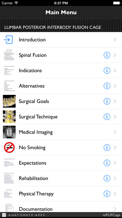 mLumbarPosteriorInterbodyFusionCage iPhone Screenshot 1