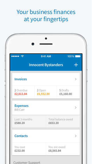 FreeAgent Mobile - Invoicing and expense management for small businesses and freelancers