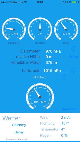 Aerostatik barometrischer Höhenmesser