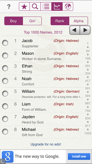 Baby Names by Winkpass screenshot
