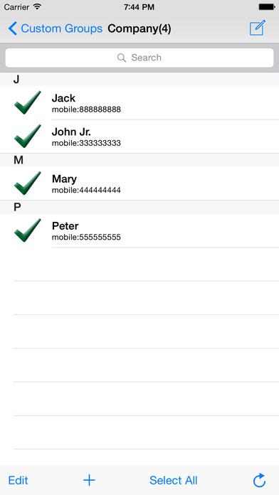 GroupSMSGo Free iPhone Screenshot 4