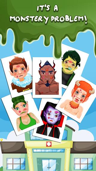 Baby Monster Halloween Doctor Salon - crazy little nail spa makeover games for kids girls boys