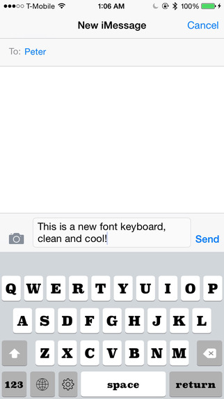 Keyboard of Superclarendon Font: Artistic Style Keys for iOS 8