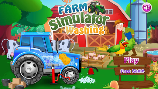 Farm Tractor Simulator Washing