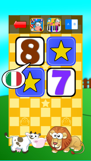 Baby Match Game - Learn the numbers in Italian